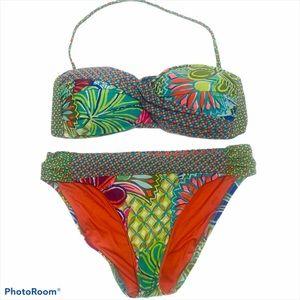 TRINA TURK Bandeau 2 Piece Floral Tropical Bikini